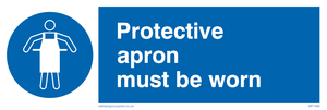 protective apron must be worn