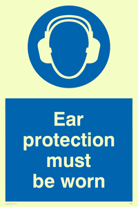 ear protection must be worn