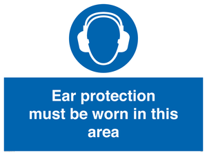 Ear protection in area