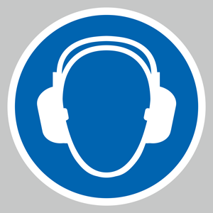 Ear protection symbol floor graphic