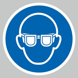 Eye protection symbol floor graphic