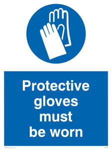 protective gloves must be worn