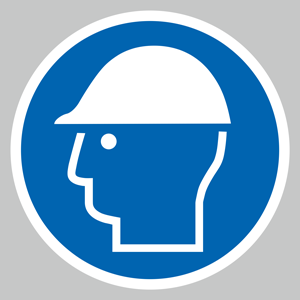 Hard hat symbol floor graphic