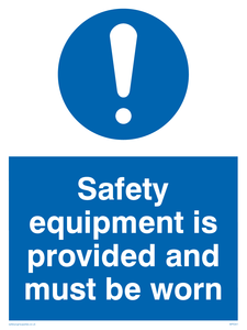 Safety equipment is provided