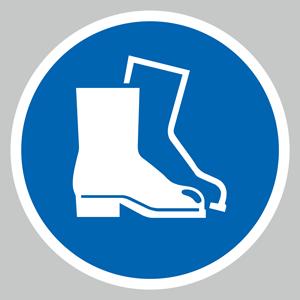 Protective footwear symbol floor graphics