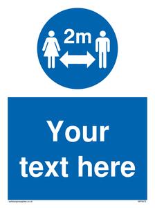 custom social distance sign