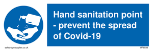 Hand sanitation point - prevent the spread of Covid-19