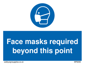 Face masks required beyond this point