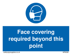 Face covering required beyond this point