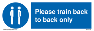 Please train back to back only