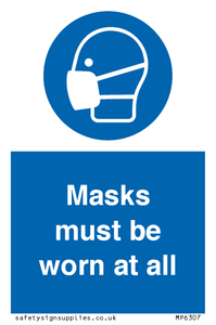 Masks must be worn at all times