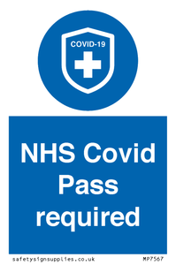 NHS Covid Pass required