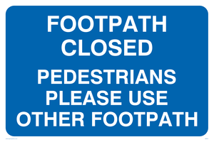 Footpath closed use other
