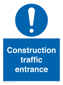 Construction traffic entrance Mandatory Sign