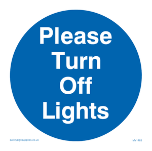 Please turn off lights