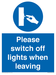 Switch off lights Sign