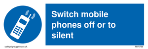 Switch mobile phones off or to silent