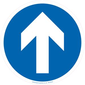 Mandatory direction floor graphic arrow only