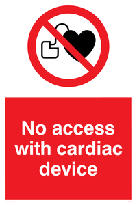 No access with cardiac device