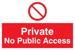 Private No Public Access