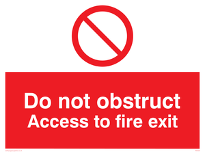 Do not block fire exit access