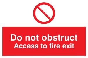 Do not block fire exit access