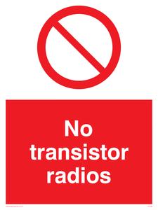 no transistor radios