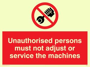 no unauthorised servicing