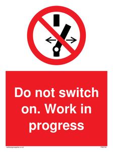 Do not switch on. Work in progress