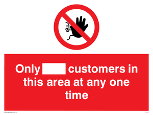 Only [ ] customers in this area at any one time