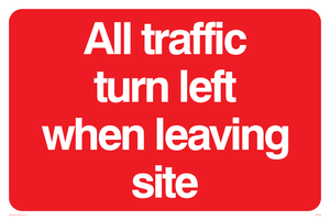 All traffic turn left