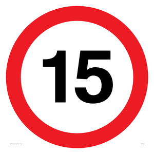 15mph or 15kph road speed sign