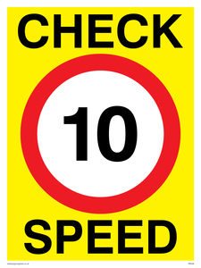 check speed 10 (10MPH  10KPH)