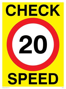 check speed 20 (20MPH  20KPH)