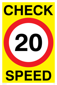 check speed 20 (20MPH  20KPH)