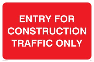entry for construction traffic