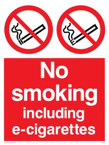 no smoking inc e-cigarettes