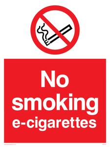 no smoking e-cigarettes