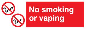 No smoking or vaping