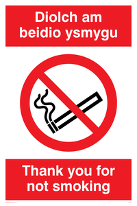 Thanks for not smoking welsh