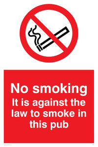 no smoking in this pub