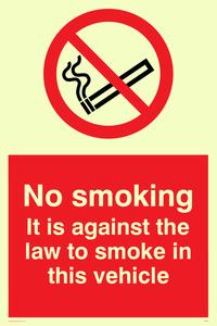 No smoking in vehicle