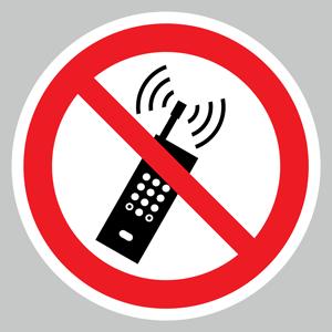 No mobile phones floor graphics