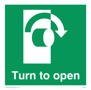 turn to open