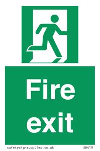 Fire Exit No Arrow Sign