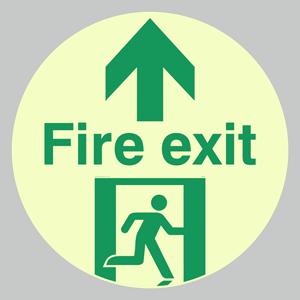 Fire Exit floor graphics