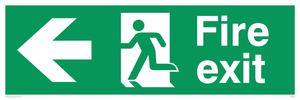 Fire Exit Sign Arrow Left
