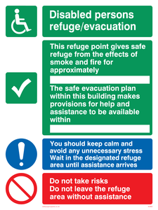 Disabled persons refuge evacuation