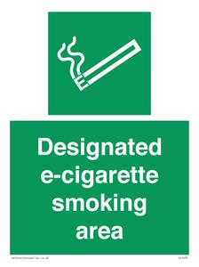 designated e-cigarette area