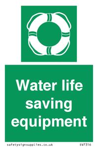 Water life saving equipment